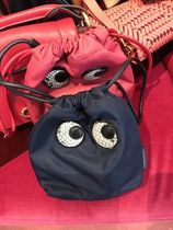 Anya Hindmarch Nylon Street Style Logo Pouches & Cosmetic Bags