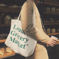 London Grocery Market Casual Style Totes