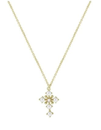 Casual Style Cross 18K Gold Elegant Style