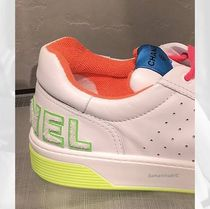 CHANEL SPORTS Street Style Plain Logo Neon Color Sneakers