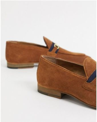 Plain Toe Loafers Suede Plain Loafers & Slip-ons