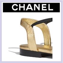 CHANEL Leather Mules Strap Sandals Sandals