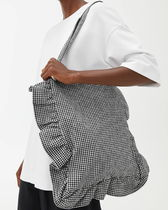 ARKET Gingham Casual Style A4 Office Style Totes