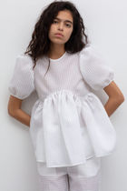 CECILIE BAHNSEN Casual Style Peplum Short Sleeves Party Style Elegant Style