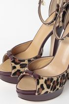 D SQUARED2 Leopard Patterns Leather High Heel Pumps & Mules