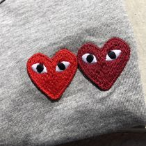 COMME des GARCONS Crew Neck Heart Street Style Cotton Short Sleeves T-Shirts