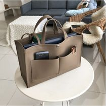 Faux Fur A4 2WAY Plain Office Style Totes