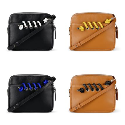 Casual Style Leather Elegant Style Shoulder Bags