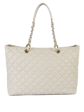 Saks Fifth Avenue Casual Style Chain Plain Leather Elegant Style Totes
