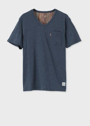 Paul Smith V-Neck Cotton Short Sleeves V-Neck T-Shirts