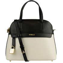 FURLA PIPER Casual Style 2WAY Bi-color Plain Leather Party Style