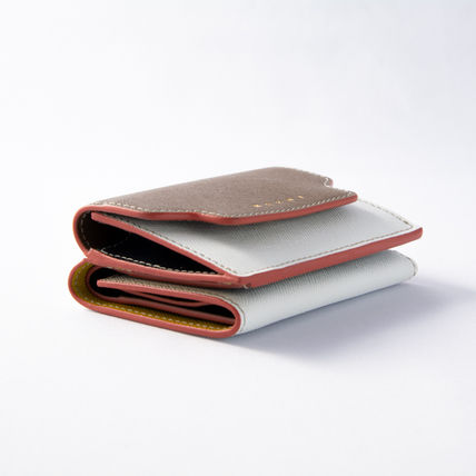 Bi-color Leather Folding Wallet Logo Folding Wallets