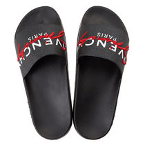 GIVENCHY Unisex Plain Shower Shoes PVC Clothing Logo Shower Sandals