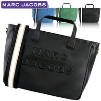 MARC JACOBS A4 2WAY Plain Leather Office Style Crossbody Totes