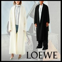 LOEWE Casual Style Wool Cashmere Plain Long Oversized