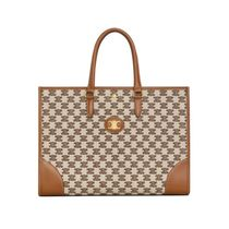 CELINE Horizontal Cabas Casual Style Calfskin A4 Office Style Elegant Style Totes
