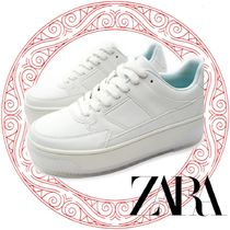 ZARA Platform Round Toe Rubber Sole Lace-up Casual Style