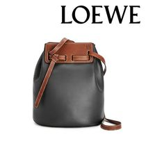 LOEWE Casual Style Calfskin Suede 2WAY Plain Leather Party Style