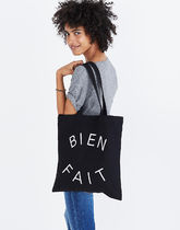 Madewell Casual Style Canvas Plain Logo Totes