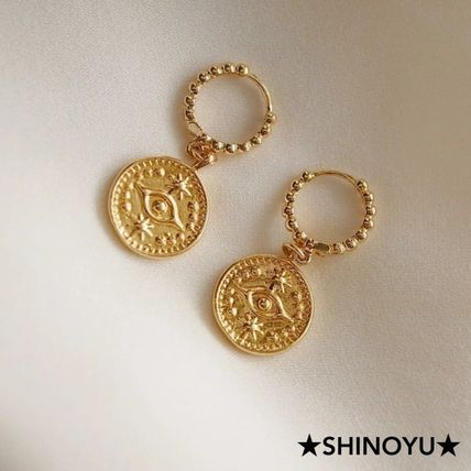 Casual Style Coin Party Style 14K Gold Elegant Style