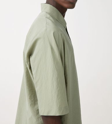 Plain Cotton Short Sleeves Icy Color Shirts