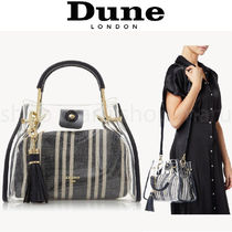 Dune LONDON Casual Style Faux Fur 2WAY Crystal Clear Bags PVC Clothing