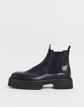 ASOS Blended Fabrics Street Style Plain Leather Chelsea Boots