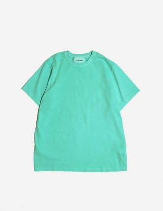 Unisex Street Style Plain Cotton Short Sleeves T-Shirts