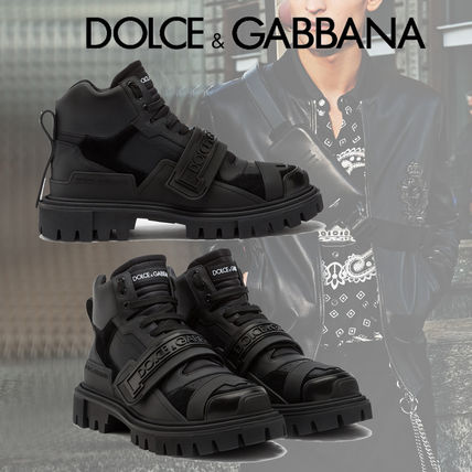 Dolce & Gabbana Mountain Boots Street Style Leather Logo Outdoor Boots