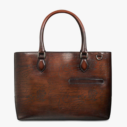 Street Style A4 Leather Logo Business & Briefcases