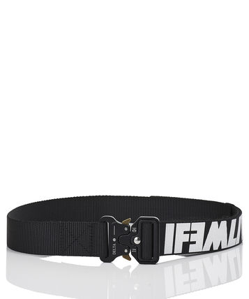 Unisex Nylon Street Style Long Belt Logo Military Belts