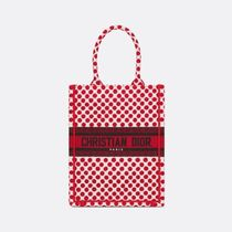 Christian Dior BOOK TOTE Dots Casual Style Street Style Elegant Style Logo Totes