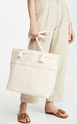 Casual Style A4 Plain Office Style Totes