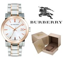 Burberry Casual Style Round Party Style Quartz Watches Silver