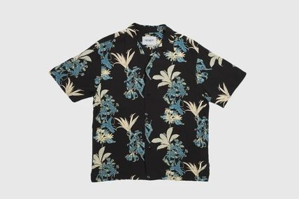 Carhartt Tropical Patterns Unisex Street Style Short Sleeves Logo