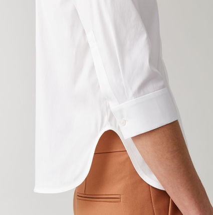 Short Casual Style Cropped Plain Cotton Party Style