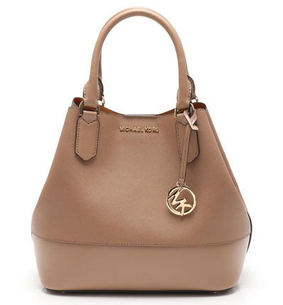 Michael Kors JET SET TRAVEL Casual Style 2WAY 3WAY Plain Leather Office Style