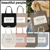 Beauty People Casual Style Street Style A4 Plain Logo Totes
