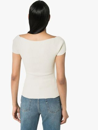 Short Street Style Plain Short Sleeves Cropped