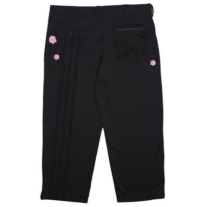 Y-3 Street Style Collaboration Plain Cropped Pants