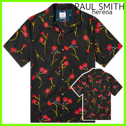 Paul Smith Button-down Flower Patterns Street Style Cotton