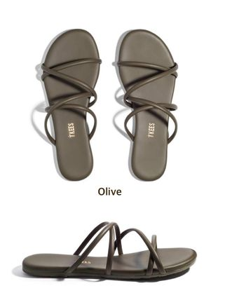 Open Toe Rubber Sole Casual Style Plain Leather Party Style