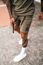 SINNERS ATTIRE Slax Pants Tapered Pants Printed Pants Stripes Camouflage