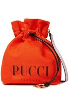 Emilio Pucci Casual Style Canvas Plain Purses Crossbody Logo Bucket Bags