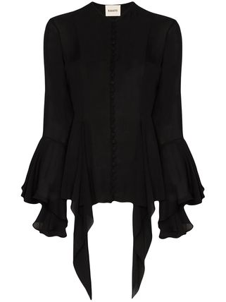 Formal Style  Short Casual Style Silk Long Sleeves Plain