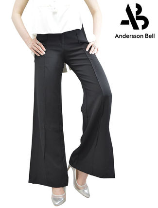 ANDERSSON BELL Formal Style  Bridal Slit Pants Casual Style Plain Long