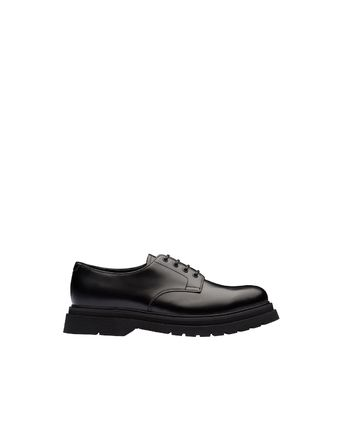 PRADA Loafers Street Style Plain Leather Loafers & Slip-ons