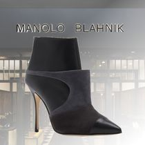 Manolo Blahnik Suede Leather Party Style Elegant Style