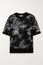 Dries Van Noten Flower Patterns Casual Style Cashmere Silk U-Neck