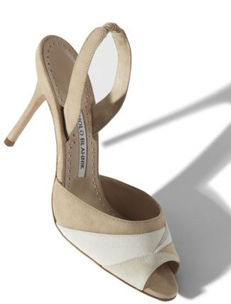 Manolo Blahnik Open Toe Suede Plain Leather Logo Peep Toe Pumps & Mules